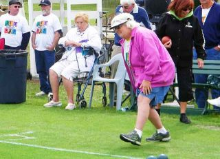 Bocce Playing Picture